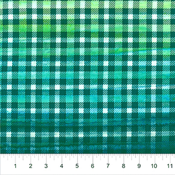 Kilts And Quilts Turquoise Green Plaid Fabric 80390-63 from Northcott by the yard