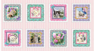 "Kitty Glitter 9"" x 9"" Blocks Fabric 4336-22 from Studio E by the yard"