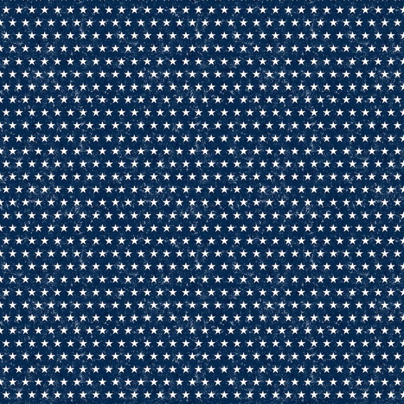 Liberty Lane Blue Patriotic Small Stars Fabric 84462-441 from Wilmington by the yard
