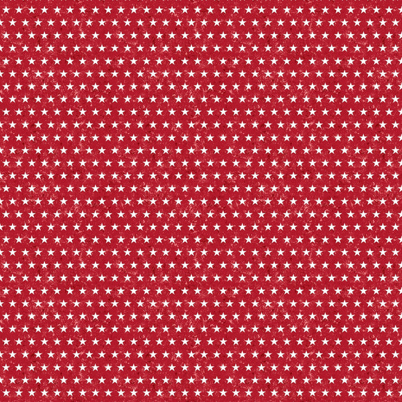 Liberty Lane Small Red Patriotic Stars Fabric 84462-331 from Wilmington by the yard