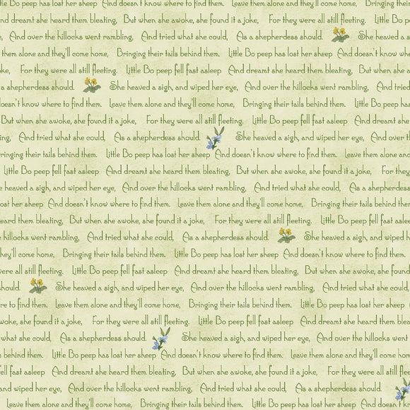 Little Bo Peep Pistachio Nursery Rhyme Fabric 51442-3 from Windham by the yard