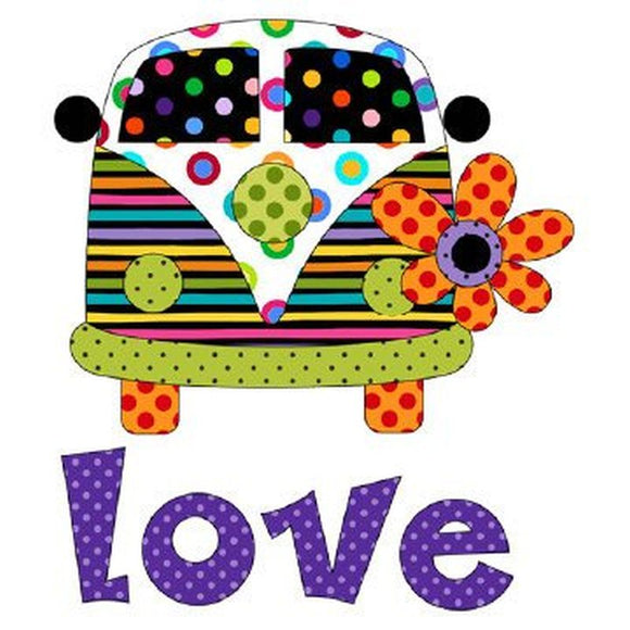 Love Bus Applique from Applique Elementz