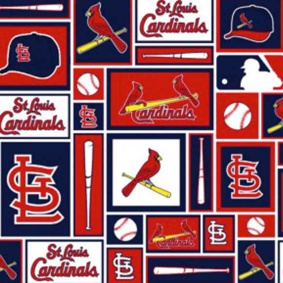 MLB St Louis Cardinals Patch Fabric 6654-B sold by the yard