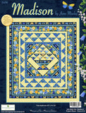 Madison Spring Floral Twin Size Quilt Kit w/Yellow Backing by the kit