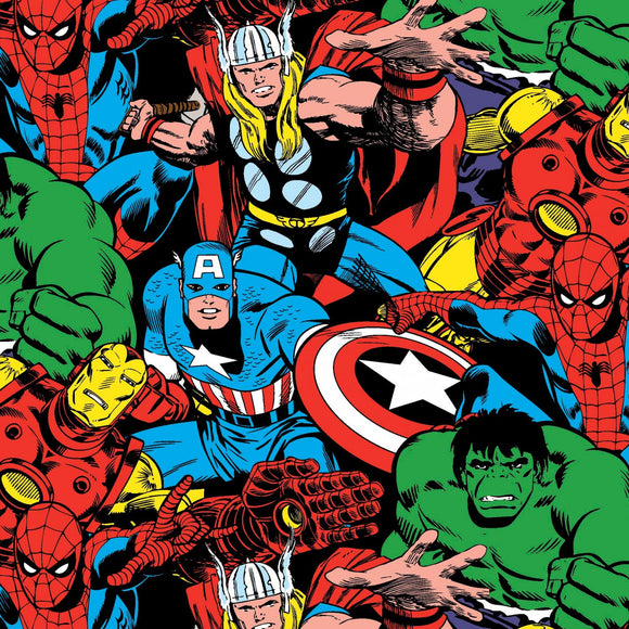 Marvel Comic Pack Fabric 56140-D650715 from Springs Creative by the yard