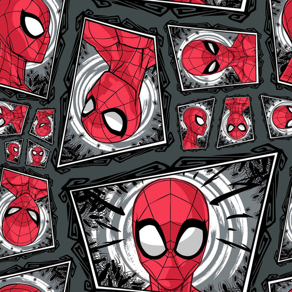 Marvel Spiderman Comic Swirl Fabric 124655 from Springs Creative by the yard