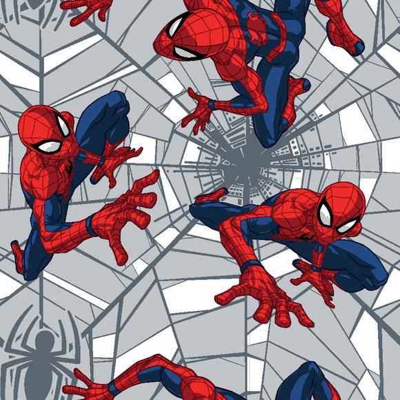 Marvel Web Crawler Spiderman Fabric 7352-A620715 from Springs Creative by the yard