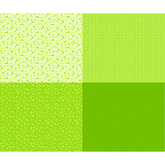 Mingle Lime 4 Patch Fabric 27278-H from Quilting Treasures by the yard