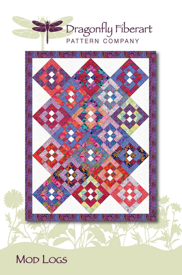 Mod Logs Quilt Pattern from Dragonfly Fiberart