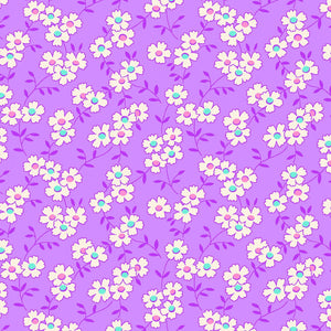 Nana Mae IV 30's Reproduction Purple Daisies Fabric 9291-55 from Henry Glass by the yard