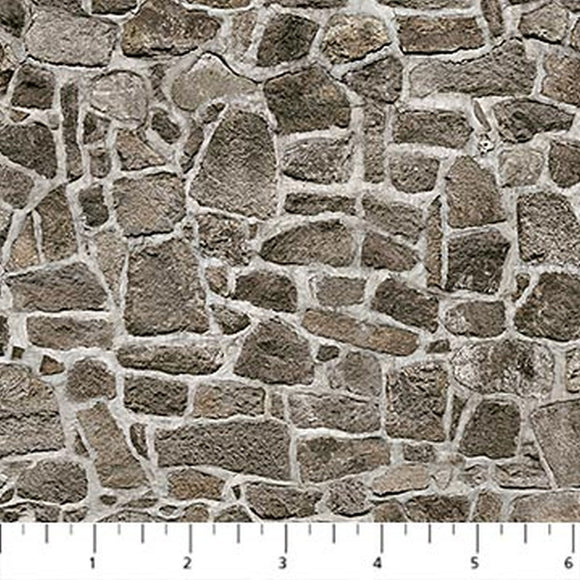 Nature's Calling Gray Flagstone Fabric 24040-96 from Northcott by the yard