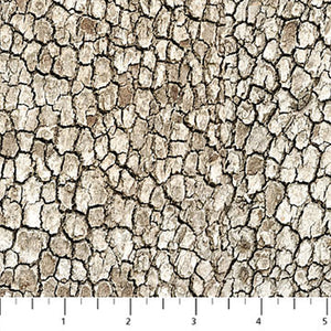 Naturescapes Moose Lake Neutral Scaly Bark Fabric 21402-34 from Northcott by the yard