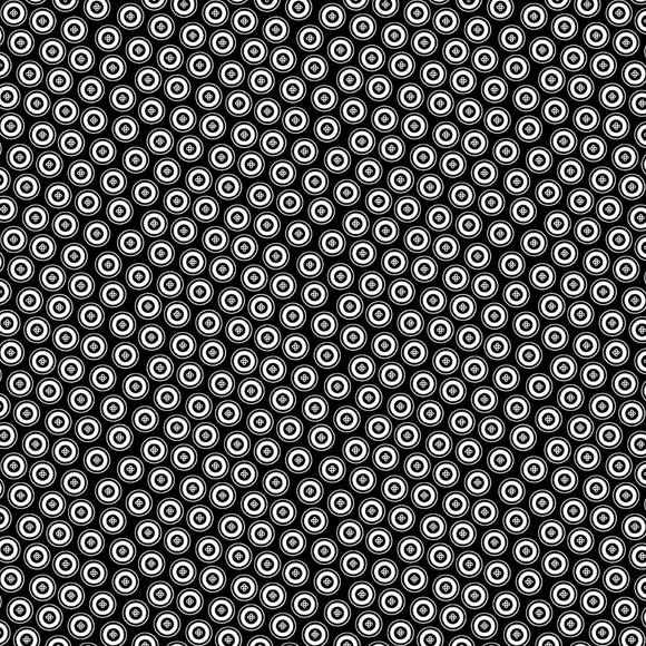 Night & Day Dotty Buttons Black/White Fabric 10401-39 from Kanvas/Benartex by the yard