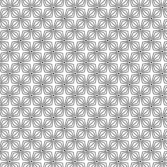 Night & Day Geo Bloom White/Black Fabric 9806-99 from Kanvas/Benartex by the yard
