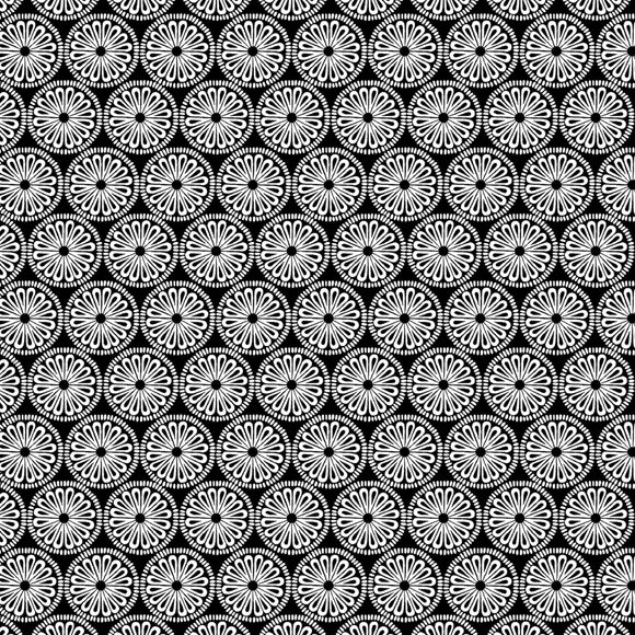 night & Day Medallion Black/White Fabric 10400-90 from Kanvas/Benartex by the yard