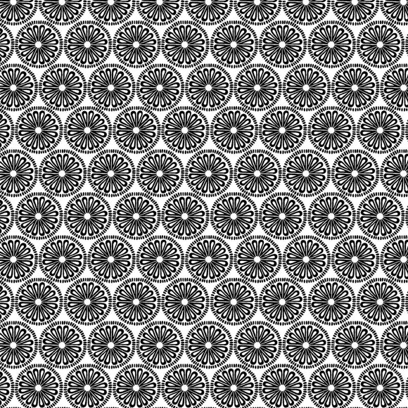 night & Day Medallion White/Black Fabric 10400-99 from Kanvas/Benartex by the yard