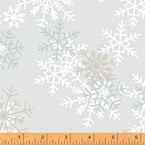 "Quilt Back Gray Snowflake 108"" Wideback Fabric 51461-1 from Windham by the yard"
