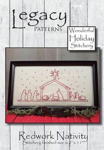 Redwork Nativity Pattern from Legacy Patterns