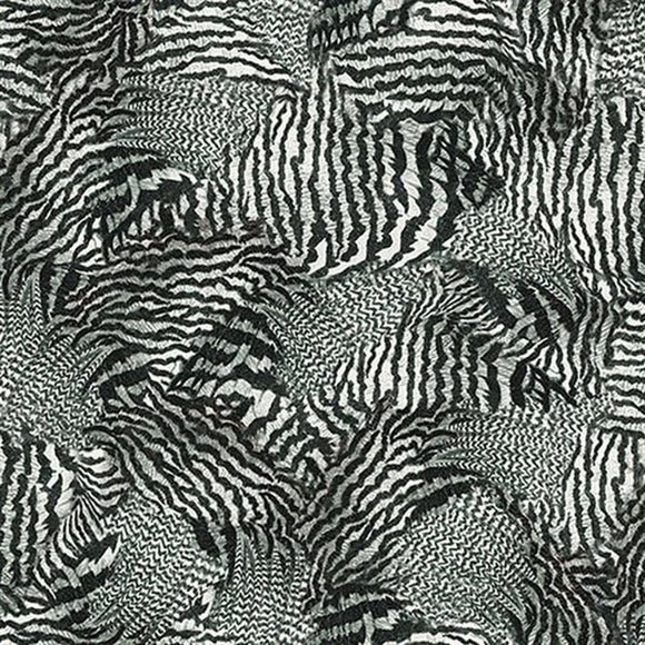 Rooster Royal Black Feathers 22781J from Quilting Treasures