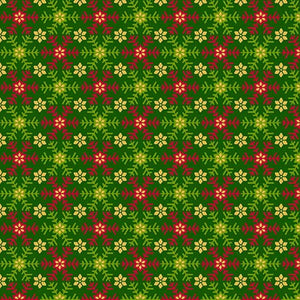 Santa's List Green Snowflake Faric 27263F from Quilting Treasures by the yard