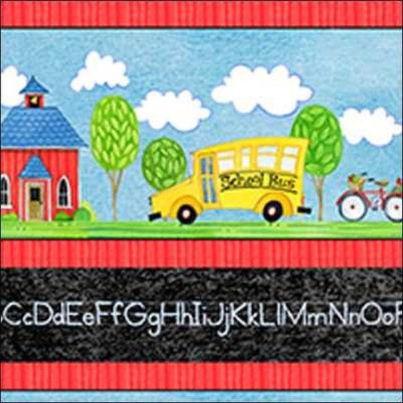 School Days Border Stripe 22247BJ from Quilting Treasures