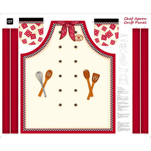 Sew 'N Go X Apron Panel 27434-E from Quilting Treasures by the panel