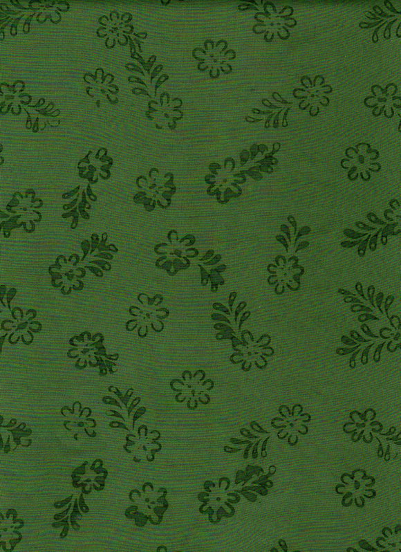 Simply Primitive Green Leaf Batik 0803 from Batik Textiles