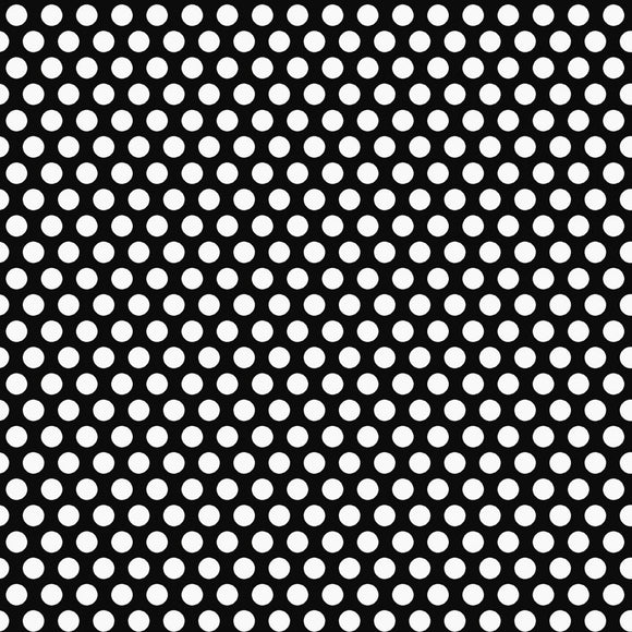 Snow Place Like Home Black Dots Fabric 5167-90 from Studio E by the yard
