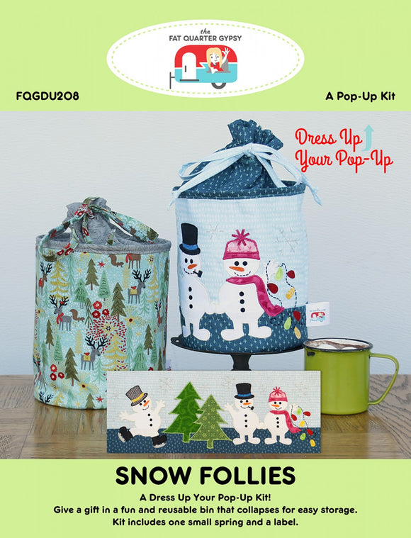 Snow Follies Pop-Up Kit from Fat Quarter Follies