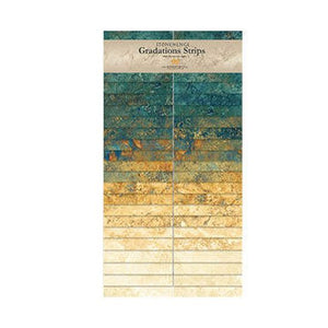 Stonehenge Gradations Oxidized Copper Strip Set SSTONE40-69 from Northcott by the pack