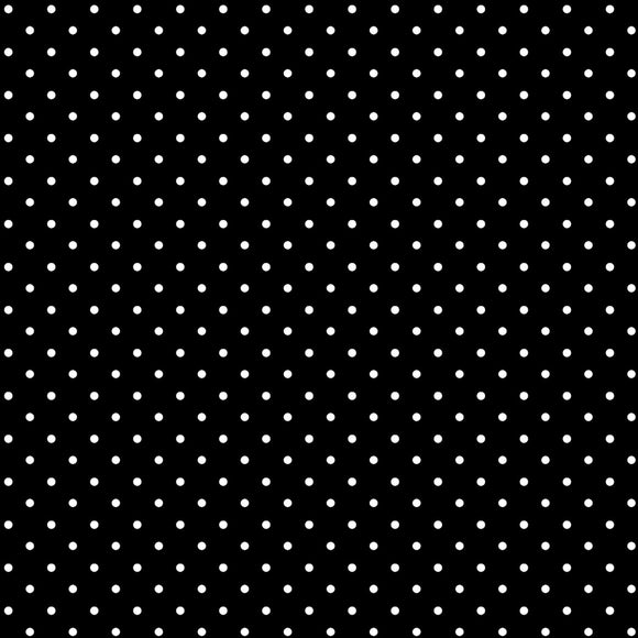 Strawberry Fields Forever Dots Black 09768-12 from Benartex by the yard