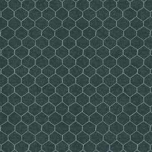 Sunflower Market Chalkboard Teal Chicken Wire 50624-3 from Windham by the yard