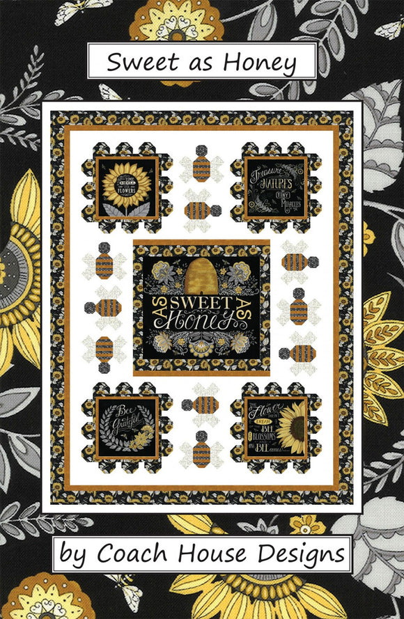Sweet As Honey Lap Quilt Pattern by Coach House Designs by the pattern