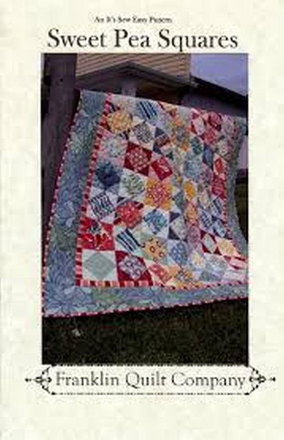Sweet Pea Squares Quilt Pattern from Franklin Quilt Company