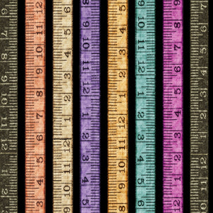 Tailor Made Tape Measurer Stripe Fabric 27342-J from Quilting Treasures by the yard