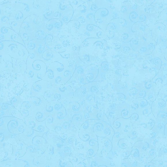 Quilting Temptations Powder Blue Vine Blender Fabric 22542-BZ from Quilting Treasures by the yard