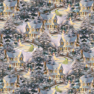 Thomas Kinkade Night Before Christmas Allover -05454-99 from Benartex by the yard
