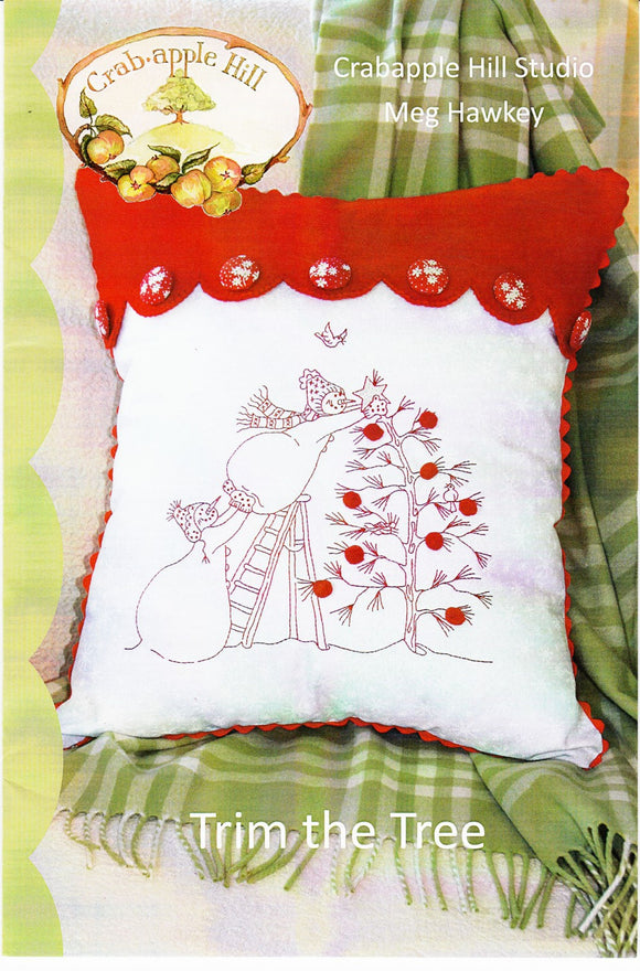 Trim The Tree Pillow Pattern from Crabapple Hill
