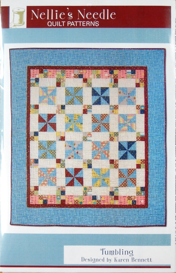 Tumbling Quilt Pattern by Karen Bennett from Nellie's Needle Quilt Patterns