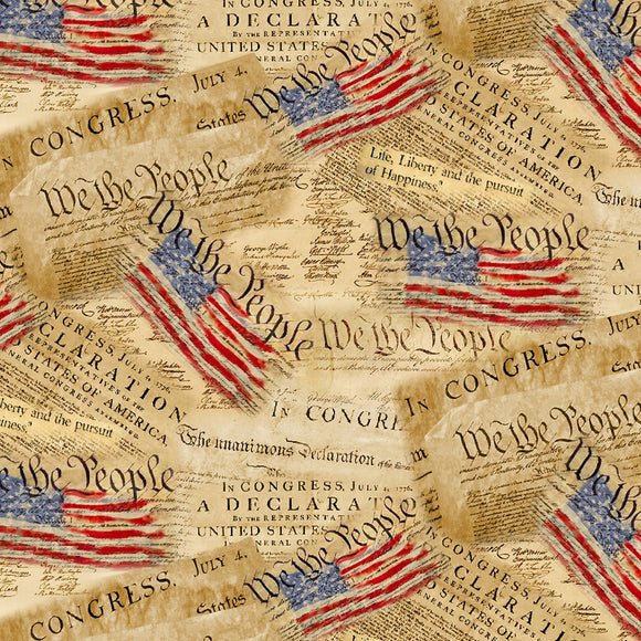 We The People Documents Fabric C8320 from Timeless Treasures by the yard