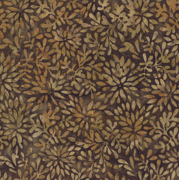 Wilmington Brown Packed Petals Batik Fabric 22179-220 by the yard