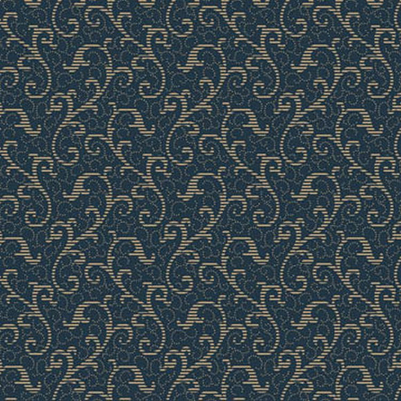Windsor Scroll Navy 24542N from Quilting Treasures