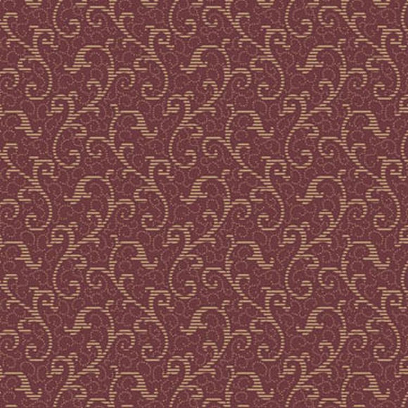 Windsor Scroll Wine 24542M from Quilting Treasures