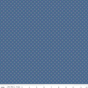 Winifred Rose Squared Navy Fabric C9226-Navy from Riley Blake by the yard