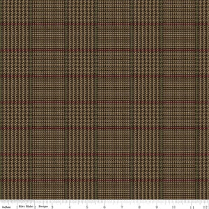 Penny Rose Fabrics Men's Wear Brown Plaid C4793 Brown
