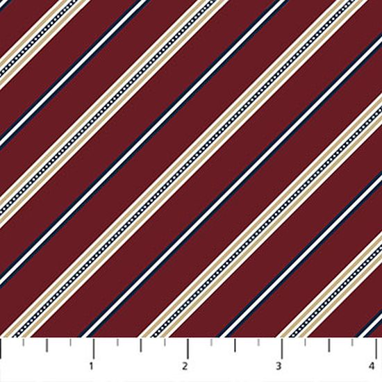On the Green Burgundy Diagonal Stripe from Northcott 21690-26