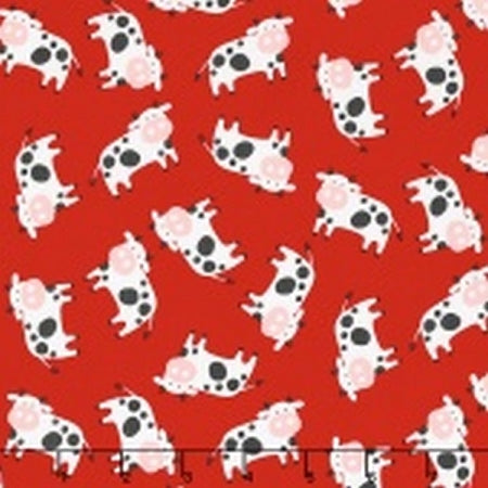 Farmland Red Cows Fabric from Timeless Treasures C5917