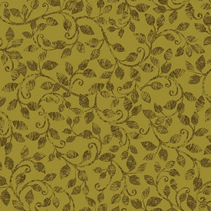 Benartex Autumn Scroll Olive 08321-40