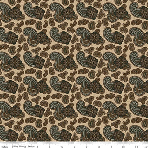 Penny Rose Fabrics Men's Wear Paisley C4790 Tan