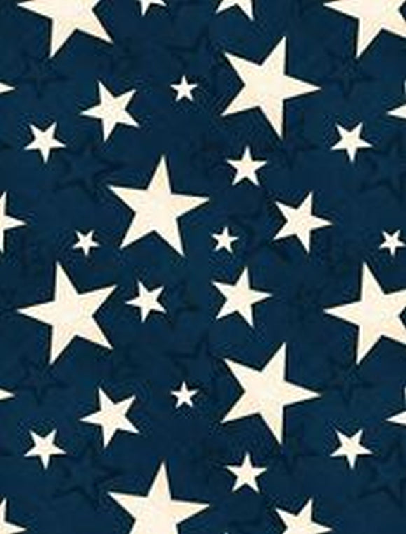Colors of Freedom Blue Stars Fabric 82467-411 from Wilmington by the yard